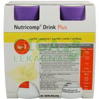 Nutricomp Drink Plus Vanilka por.sol. 4x200ml