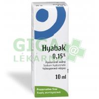 Hyabak 0.15% oční kapky 10ml