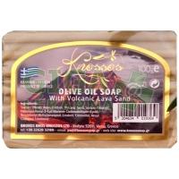 Mýdlo Olivové s vulkanickým lávovým pískem 100g Knossos