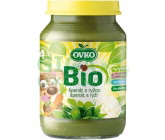 Dětská výživa špenát s rýži OVKO 190g - BIO