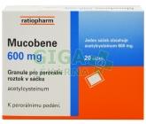 Mucobene 600mg por.gra.sol.scc.20x3g/600mg-SA