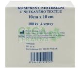 Kompres Netex nesterilní 10x10/100ks 4 vrstvy ZSZ