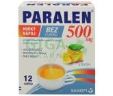Paralen horký nápoj bez cukru 500mg por.plv.sol.12