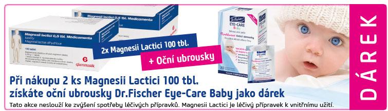 GigaLékáreň.sk - 2ks Magnesii Lactici 100 tbl. + Dr.Fischer Eye-Car