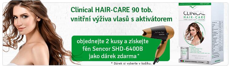 GigaLékáreň.sk - Clinical-Hair + cestovní fén Sencor