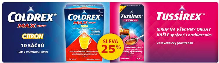 GigaLékáreň.sk - Coldrex, Tussirex a další Omega pharma -25 %
