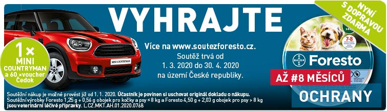 GigaLékáreň.sk - Foresto s dopravou zdarma a soutěží o auto