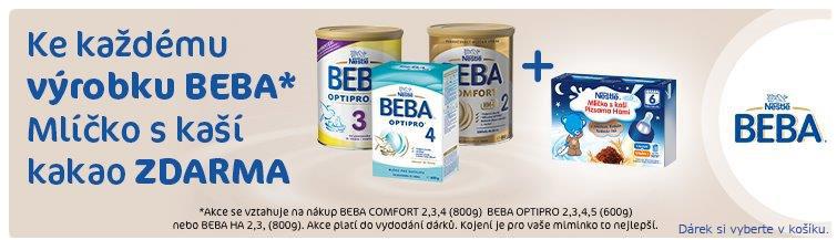 GigaLékáreň.sk - Nestlé Beba s dárkem Mlíčko s kaší