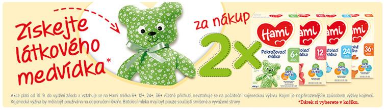 GigaLékáreň.sk - K nákupu 2x Hami látkový medvěd zdarma