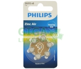 Baterie do naslouchadel PHILIPS ZA312B6A/10 6ks