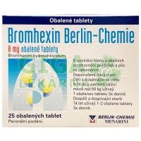 Bromhexin 8 - 25 tablet Berlin-Chemie