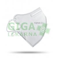 Český bezpečný nano respirátor FFP2 bílý - 3 ks