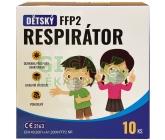 Dětský respirátor FFP2 10 ks - růžové