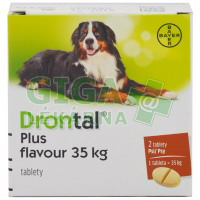 Drontal Plus flavour 2 tablety pro psy na 35kg
