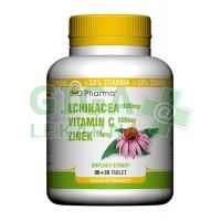 Echinacea 100mg+VitamínC 500mg+Zinek 10mg 90+30 tablet