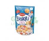 Emco Biskiti ovesné sušenky - mléční s jahodami 350g