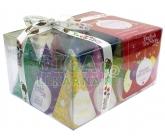 Obrázek English Tea Shop Bio Kolekce červené ozdoby 12 pyramidek