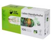 Fair Squared Jednorázové latexové rukavice M 100ks