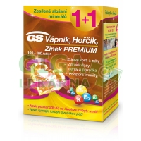 GS Vápník Hořčík Zinek Premium tbl.100+100 d.2018