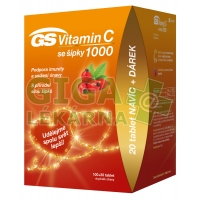 GS Vitamin C1000+šípky tbl.100+20 dárek 2020 ČR/SK