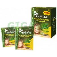 Herbalex detoxik.náplast s konopím 10ks+40%gratis
