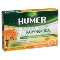 HUMER Faryngitida pastilky med a citron 20ks