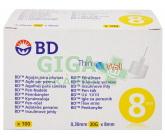 Inzulinové jehly BD 0.30x8mm (30G) 100ks