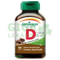 JAMIESON Vitamín D3 1000 IU cucací Čokoláda tbl.100