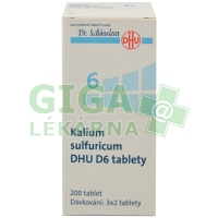 Kalium sulfuricum DHU 200 tablet D6 (No.6)