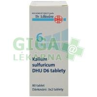 Kalium sulfuricum DHU 80 tablet D6 (No.6)