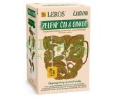 LEROS Čajovna Zelený čaj&Ginkgo 20x2g