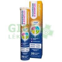 Magnesium B-komplex Immune 20 šumivých tablet