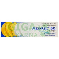 Maxi-Kalz 500 šumivé tablety 20x500mg