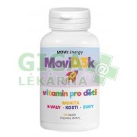 MOVit MoviD3k vitamin D3 pro děti 800 I.U. 90 tablet pomeranč