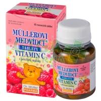 Müllerovi medvídci s vit.C a přích.maliny 45 tablet