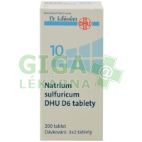 Natrium sulfuricum DHU 200 tablet D6 (No.10)