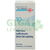 Natrium sulfuricum DHU 80 tablet D6 (No.10)