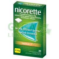Nicorette Freshfruit Gum 4mg 30 žvýkaček