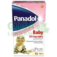 Panadol Baby 10 čípků 125mg