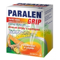 Paralen Grip horký nápoj Pomeranč zázvor 12 sáčků