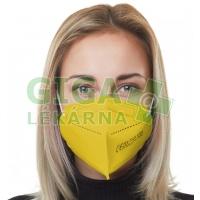Respirátor FFP2 PREMIUM - žlutý 5ks