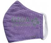 Rouška textilní 3-vrstvá 1ks, MD class I, Fialová M