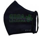 Obrázek Rouška textilní 3-vrstvá 1ks , MD class I, noční modř/BLACK L
