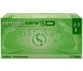 Rukavice Sempercare latex s pudrem L 8-9 100ks