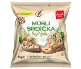 Semix Musli srdíčka bez lepku s líkovými oříšky 50g