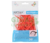 SOFTdent Butterfly dentální párátka s nití 50ks