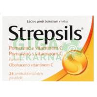 Strepsils Pomeranč s vitaminem C 24 pastilek