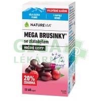 Swiss NatureVia Mega brusinky 50+10 kapslí