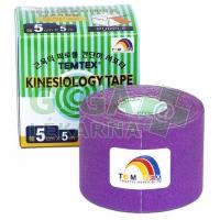 Tejp. TEMTEX kinesio tape fialová 5cmx5m