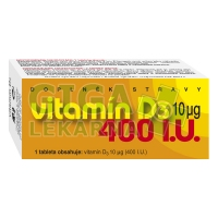 Vitamín D3 400 90 tablet Naturvita